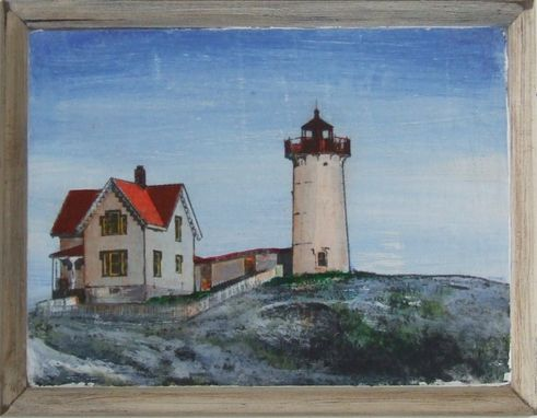 Custom Made Painting/Nubble Lighthouse, York Maine
