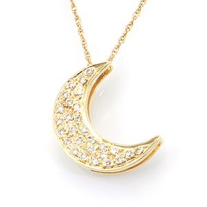 Buy a hand crafted diamond crescent moon pendant in 14k yellow gold diamond crescent moon pendant in 14k yellow gold diamond pendant crescent moon pendant aloadofball Image collections