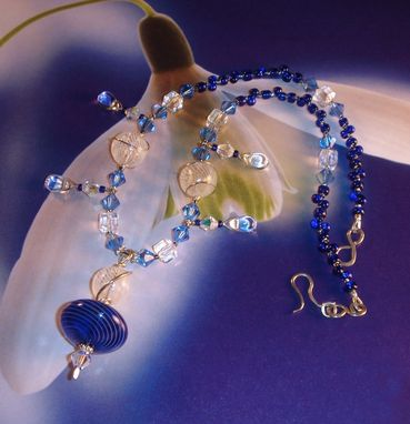 Custom Made Venetian Glass And Sterling Necklace