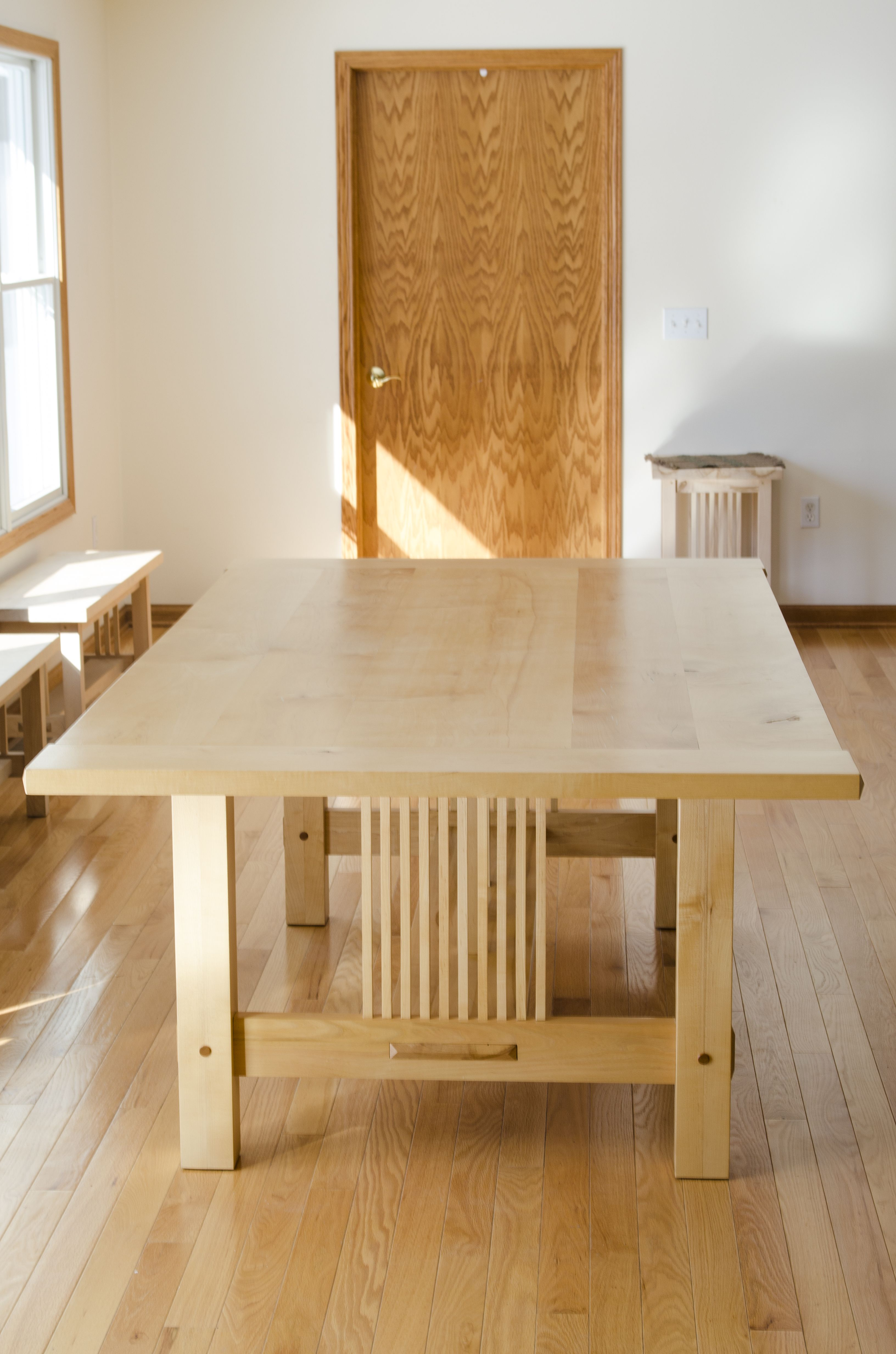 Hand Made Hard Maple Dining Table By Joshua White Fine