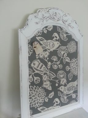 Custom Made Fabric Covered Magnetic Memo Board - Home Decor