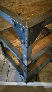 Custom Made Industrial Barn Wood End Tables
