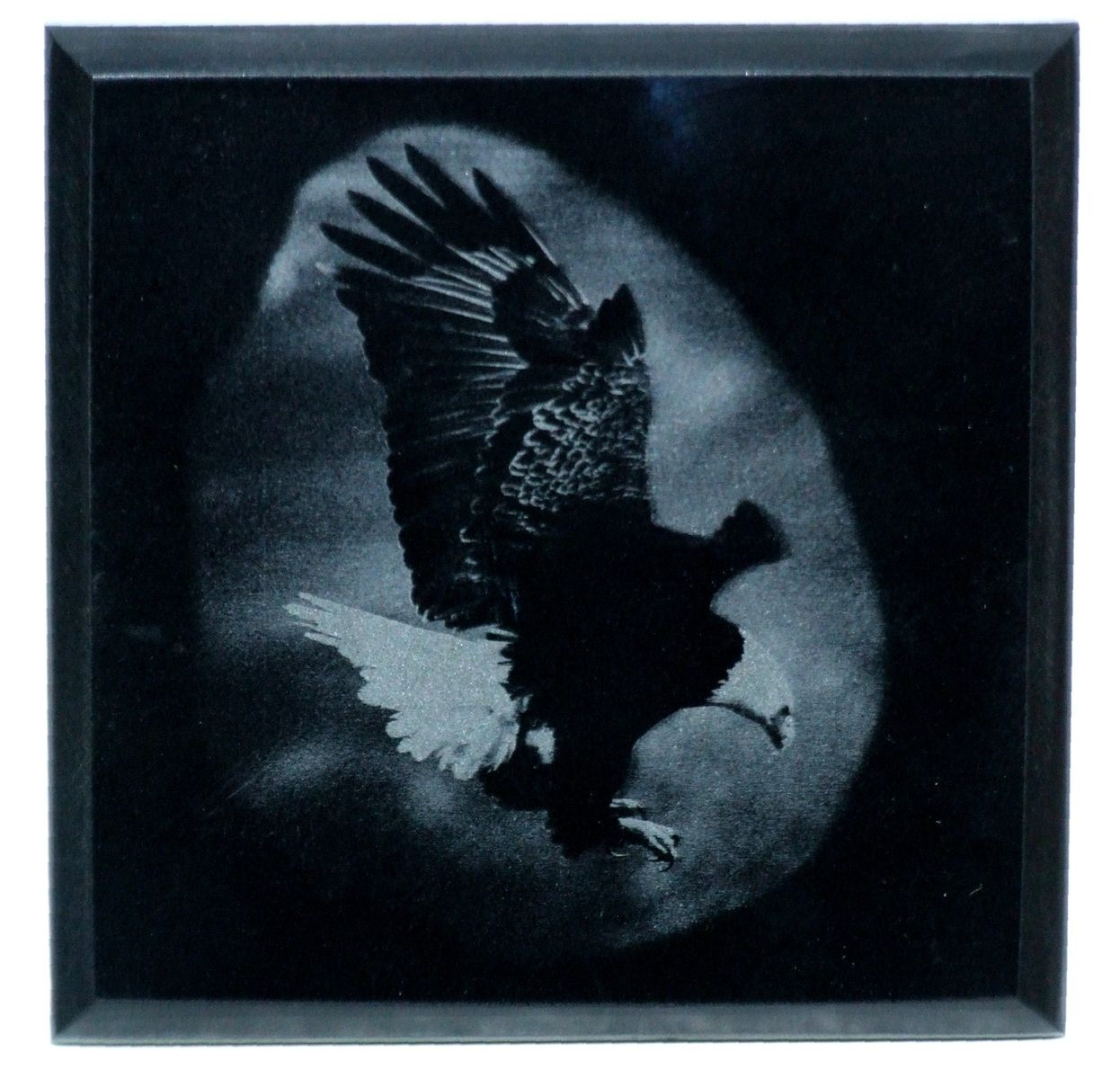 Handmade Custom Laser Engraved Black Marble By Frontiernow