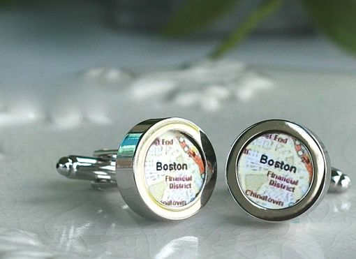 Custom Made Cufflinks Map Cufflinks Destination Cufflinks Gift For Groom