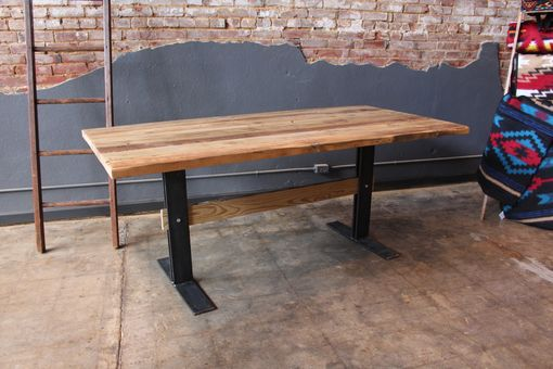 Custom Made Reclaimed Trestle Dining Table