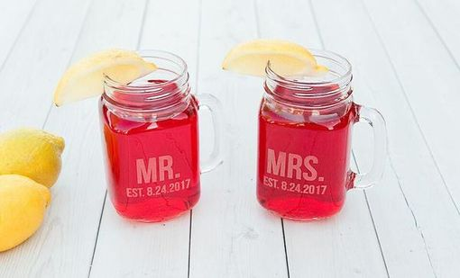 Custom Made Personalized Mason Jar Mugs