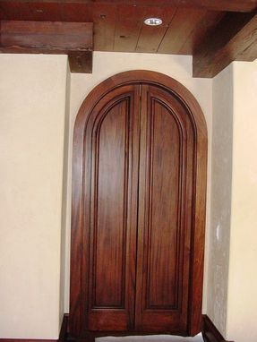 Custom Made Radius Top Mahogany Door