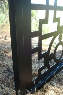 Custom Made Gate Metal Custom Garden Entry Walk Thru Pedestrian Gates Ornamental Steel Iron