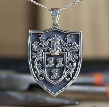 Family Crest Necklaces Coat Of Arms Pendants
