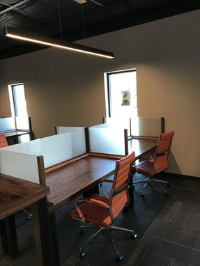 Custom Made Work Stations With Glass Dividers