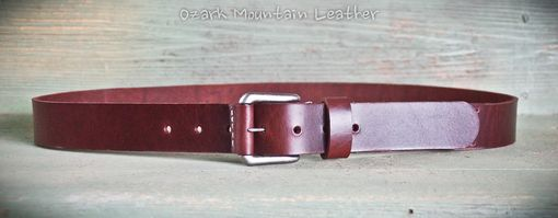 Custom Made Copper Tornado Rustic Leather Belt