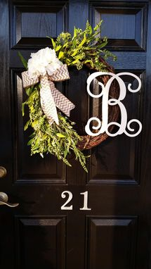 Custom Made Grapevine Floral Wreaths With Initials