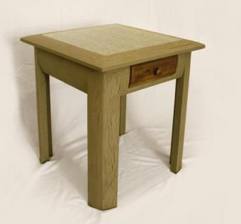Custom Made Sloped Top Side Table