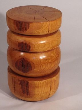 Custom Made Varnished Maple Stool