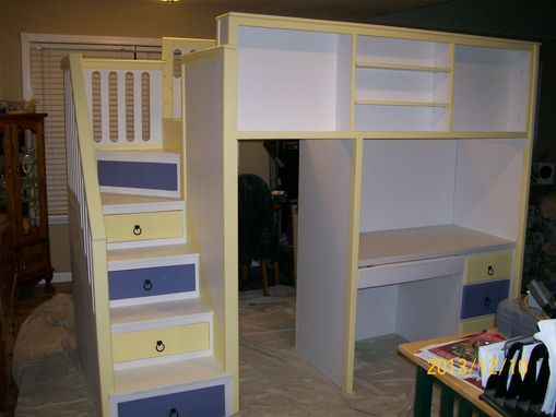 Custom Made Loft Bed With Desk And Drawers