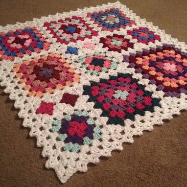 Custom Made Babylove Brand Mixed Squares Blanket