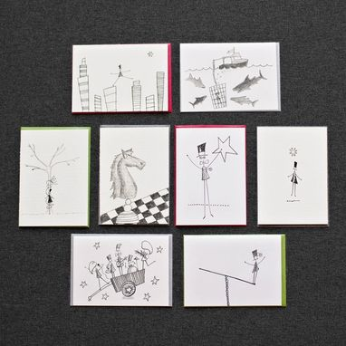 Custom Made Obscure Notes Greeting Card Set
