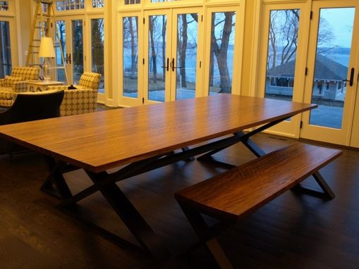 Custom Made Shedua Dining Table And Benches