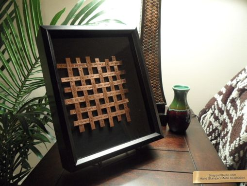 Custom Made Copper Wall Art In Wooden Frame