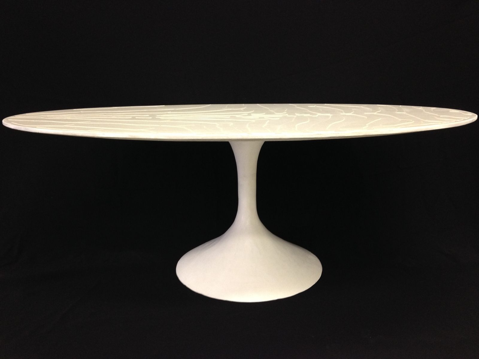 Hand Made White Concrete Coffee Table By Castings CustomMadecom - Oval concrete coffee table