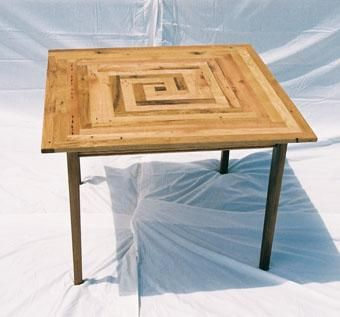 Custom Made Square Oak Kitchen Table