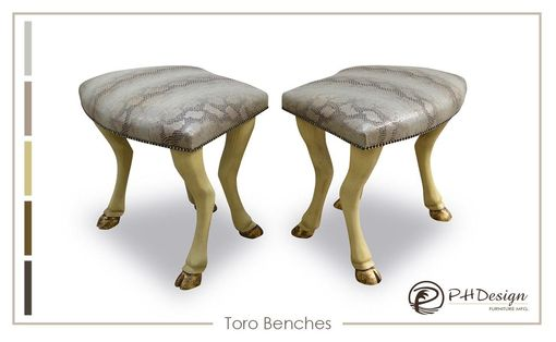 Custom Made Toro Leg Ottomans