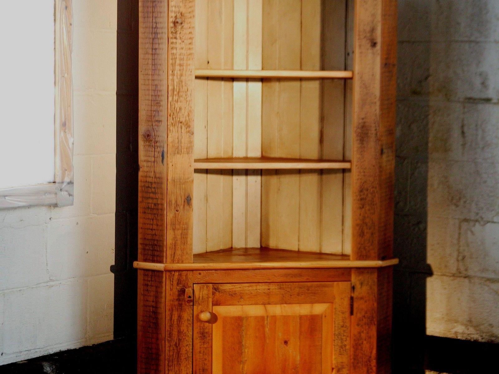 Custom Made Corner Cabinet With Open Top