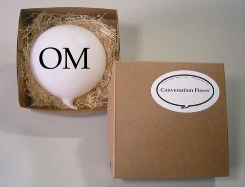 Custom Made Om Meditation Glass Word Balloon Conversation Piece