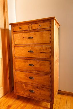 Custom Made Classic 7 Drawer Chest And 3 Drawer Nightstand