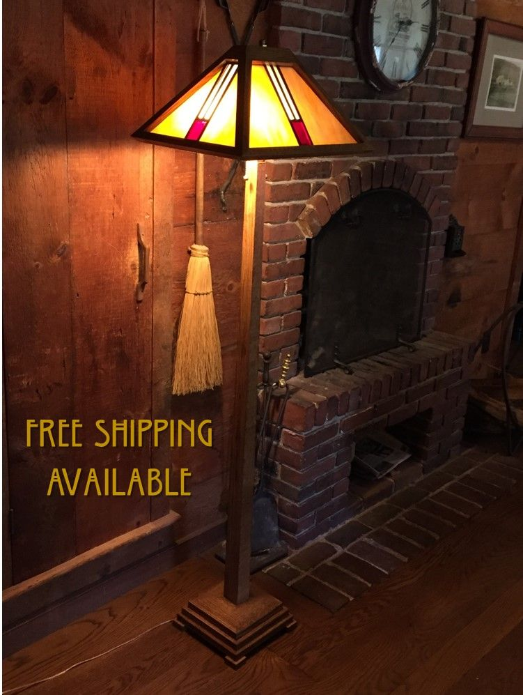 Custom Mission Style Floor Lamp By