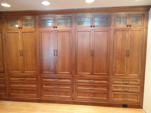 Custom Made White Oak Wardrobe Closet