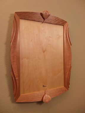 Custom Made Cherry And Curly Maple Mirror Frame