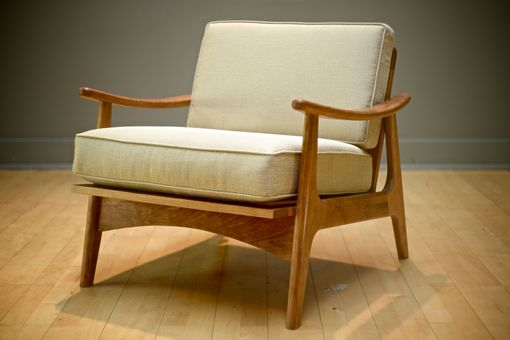 Custom Made Mid Century Modern Upholstered Lounge Chair