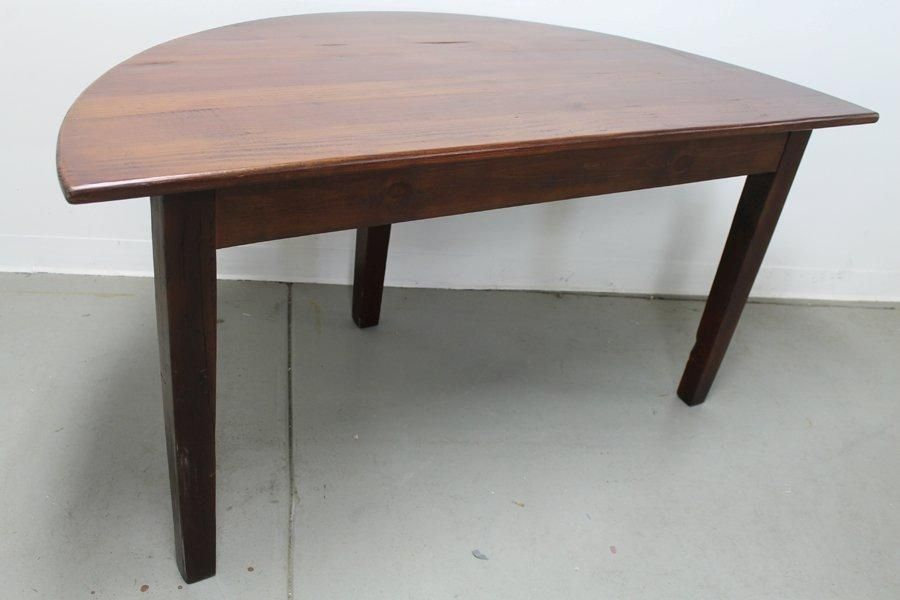 Custom made small half circle dining table by for Circle furniture dining tables