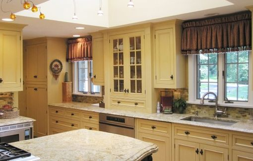 Custom Made English Country Kitchen Cabinets