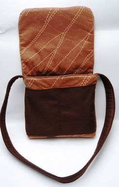 Custom Made Reversible Messenger Bag / Diaper Bag / Ipad / Brown / School Bag