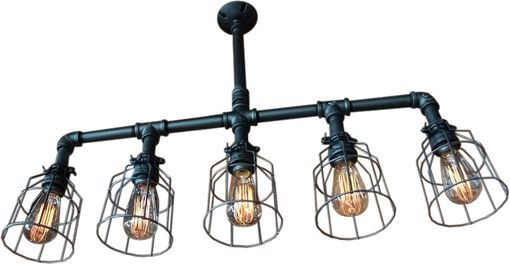 Custom Made Lattitude Lighting With Wire Cages