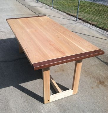 Custom Made (Sold) Maple & Walnut Dining Table