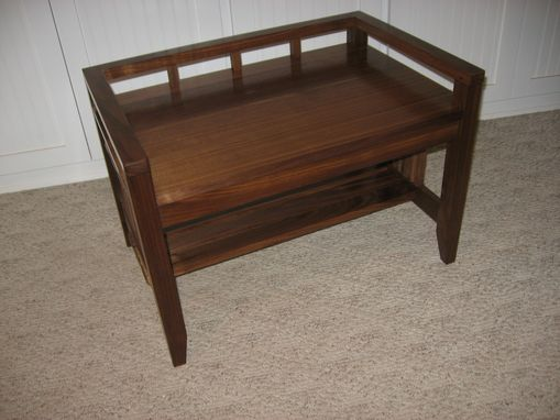 Custom Made Walnut Arts & Crafts Bench