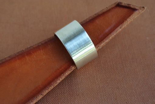 Custom Made Wide Sterling Silver Satin Finish Ring