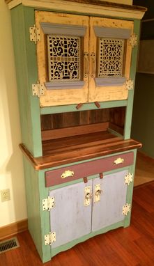 Custom Made Reclaimed Wood Dining Room Hutch