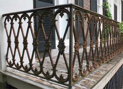 Custom Made Antique Iron Bannister