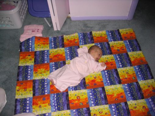 Custom Made Baby Clothes Quilt