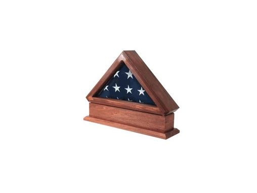 Custom Made Flag Display Case And Pedestal For American Flag