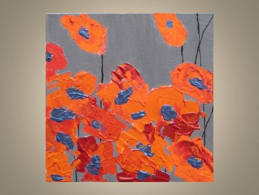 "Custom Made Orange Poppy Print Valentines Day- Fine Art 8""X8"" Orange Red Poppy Flowers"