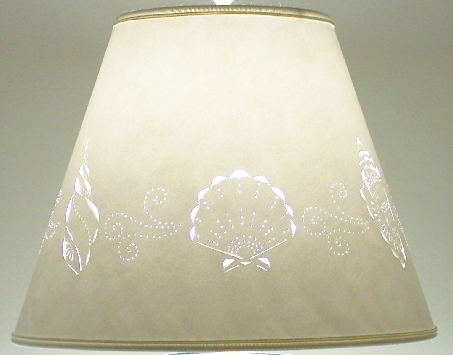 Custom Made Cut Pierced Sea Shell Border Lampshade