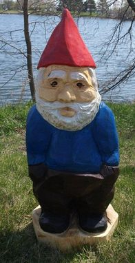 Custom Made Gnome, Carved Wood