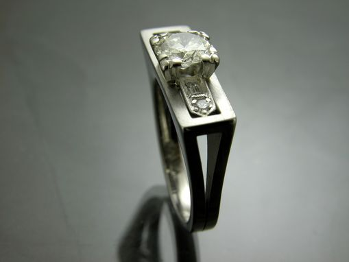 Custom Made Antique Engagement Ring With Center Cut Stone