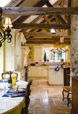 Custom Made Elegant Old Manor Kitchen