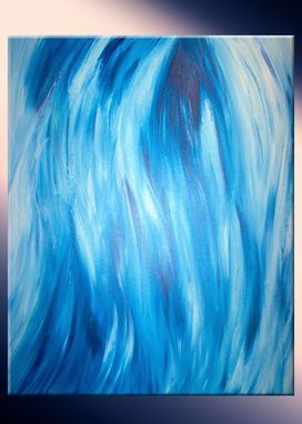 Custom Made Original Blue Painting By Laffertyart Sale 22% Off